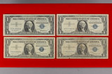 4 Blue Seal Silver Certificates; 1957,1957-A,1957-B,1957-A Star Note