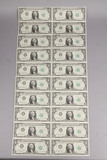 20 Consecutive #'s 1963 $1 Federal Reserve Notes