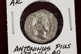 138-161 Imperial Rome Denarius, Antoninus Pius Coin