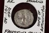 Faustina Senior, Imperial Rome Denarius, Antoninus Pius Wife Coin