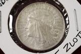 1932 Poland 5 Zlotych Silver Coin