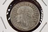 1934 Poland 5 Zlotych Silver Coin