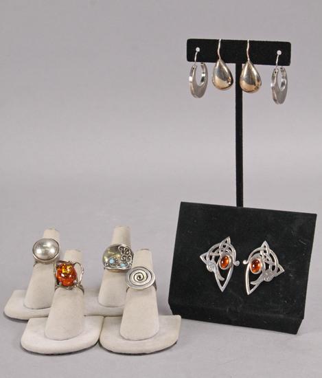 Sterling - .925 Earrings & Rings