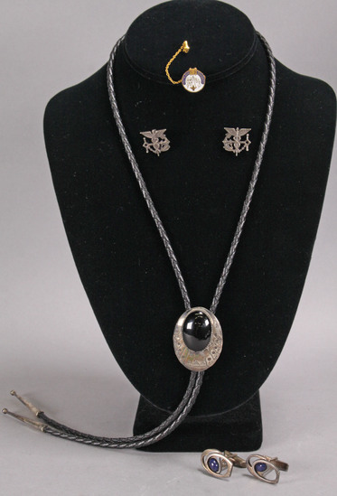 Sterling Bolo Tie, Cuff Links, Medical Insignias
