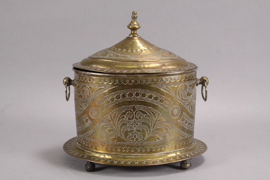 19th Century French Lidded  Brass Box