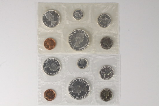 1961 & 1963 Royal Canadian Mint Proof-liked Uncirculated Sets