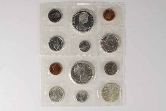 1966 & 1967 Royal Canadian Mint Proof-liked Uncirculated Sets