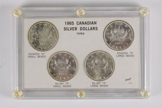 1965 Canadian Silver Dollar Types