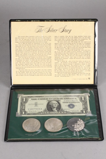 The Silver Story Coin Set; 1882-O Morgan, 1922-P Peace,