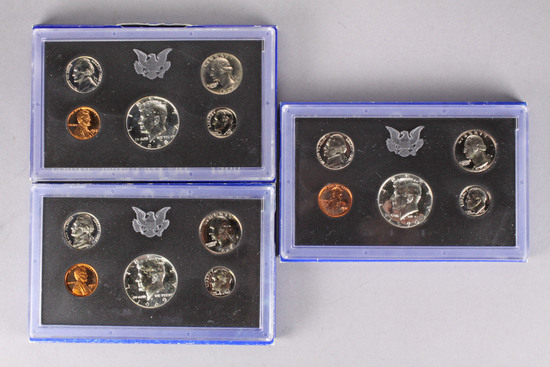 3 US Proof Sets, 1968,1969,1970