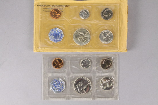 1957 P US Mint Set P.C. + 1958 P US Mint Set