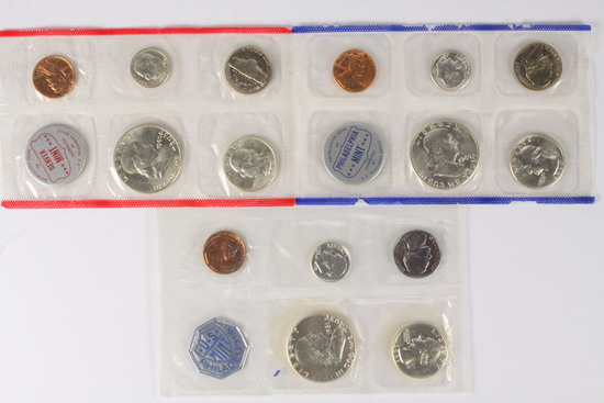 1960 P/D US Mint Set + 1961 P US Mint Set