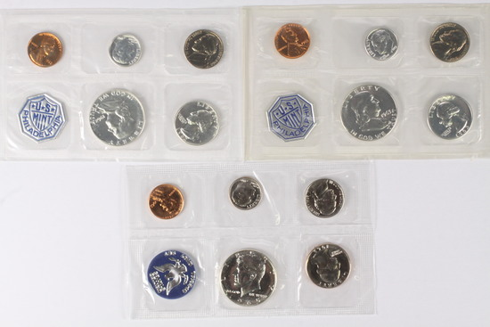 1962 US Mint Set, 1963 US Mint Set, & 1965 US Special Mint Set