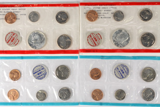 2 - 1968 P/D US Mint Sets U.C.