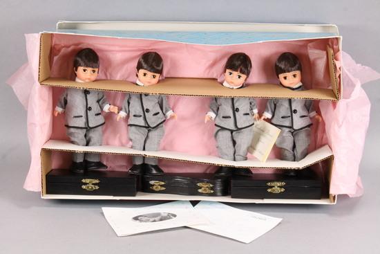 """The Beatles"" Madame Alexander 8"" Dolls #22110 w/ 3 Guitars"