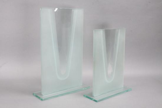 """""""Laura"""" Art Glass Vases, 11"""" & 14"""""""