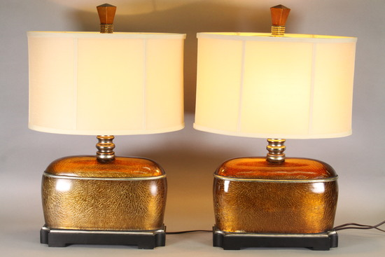 Crazed Finish Table Lamps