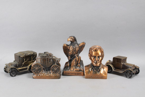 Banthrico Coin Banks: Eagle, Lincoln, Stage Coach & More