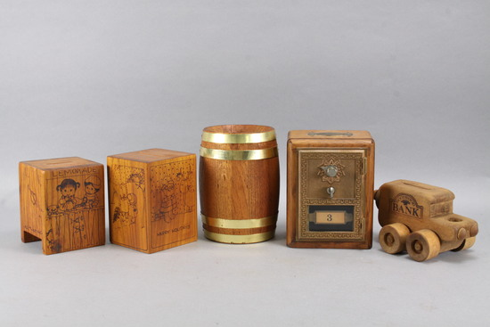 Wooden Coin Banks