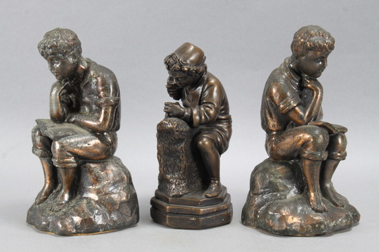 Bronze Finished Bookends & Sculpture
