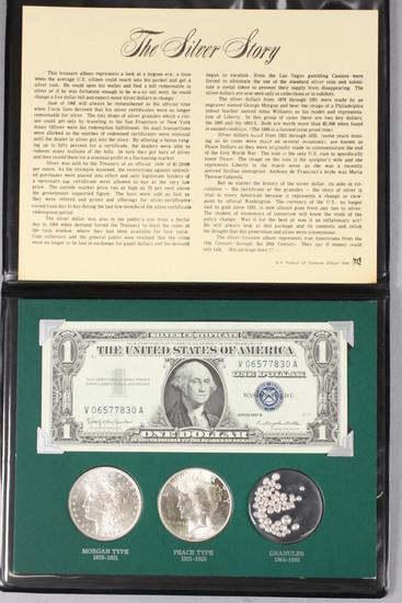 The Silver Story Coin Set; 1882-O Morgan, 1922-P Peace