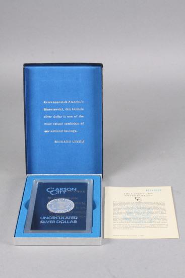 1885-CC Morgan Silver Dollar, Uncirculated in GSA Box, COA