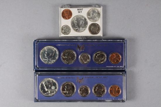 1964 Mint Set, 1966 & 1967 US Special Mint Sets