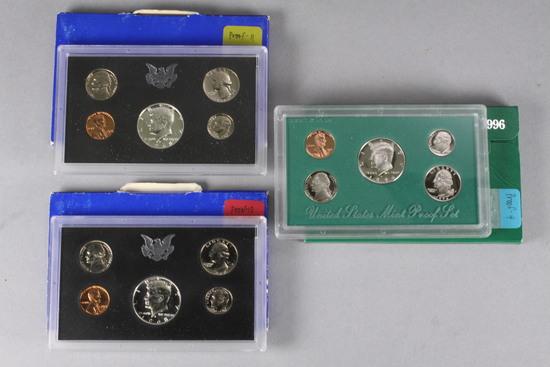 2-1968 US Proof Sets & 1996 US Mint Proof Set