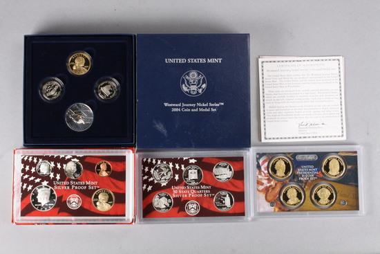 2008 US Mint Silver Proof Set & 2004 US Mint Westward Nickel/Medal Set