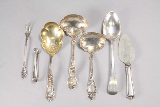 Assorted Sterling Silver Service Items, 265.4 Total Weight