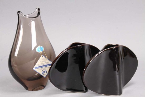 Art Glass Czech  w/ Japanese Bud Vases