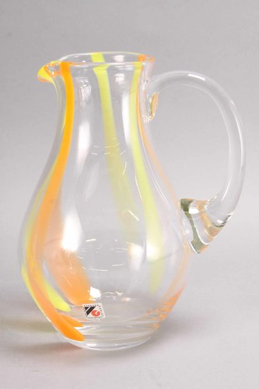 Svoboda Art Glass Pitcher, Czech Republic