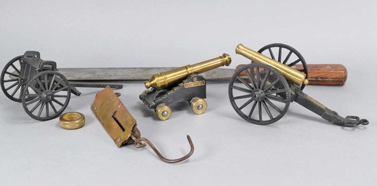 Brass Cannons, Compass, Scale  & Russell  Spatula
