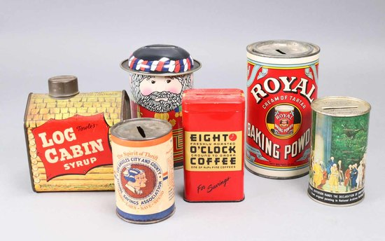Old Tin Coin Banks