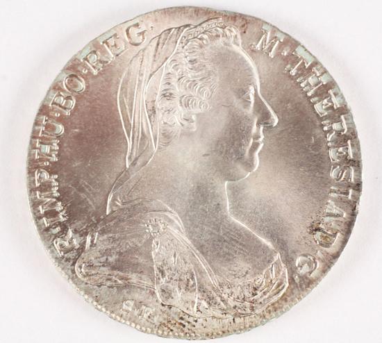 1780 Maria Theresa Austria Thaler Silver Coin