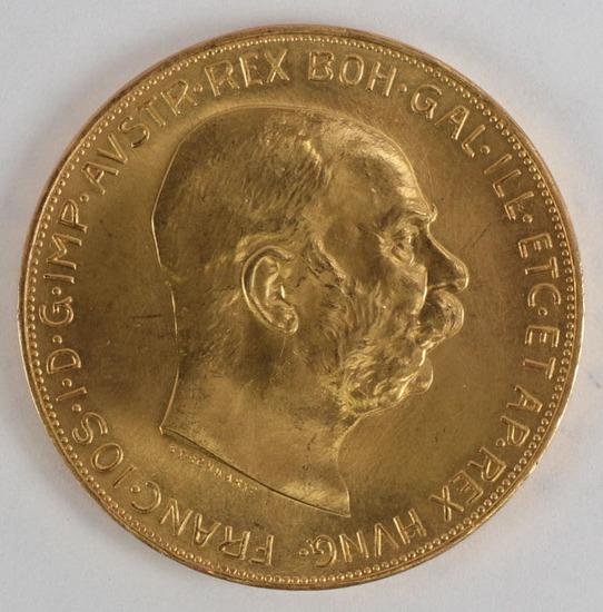 1915 Austrian 100 Corona Gold Coin