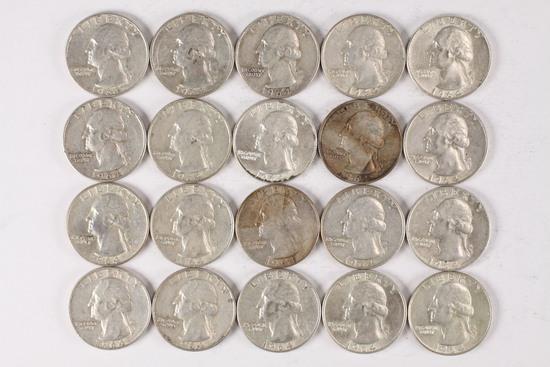 20 - 1964 Washington Silver Quarters