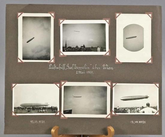 Graf Zeppelin Photo Album Sheet, 1929 & 1931