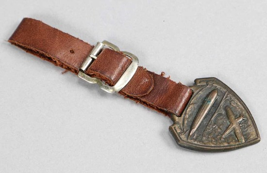 Brass Lindberg  Plane - Airship Watch Fob