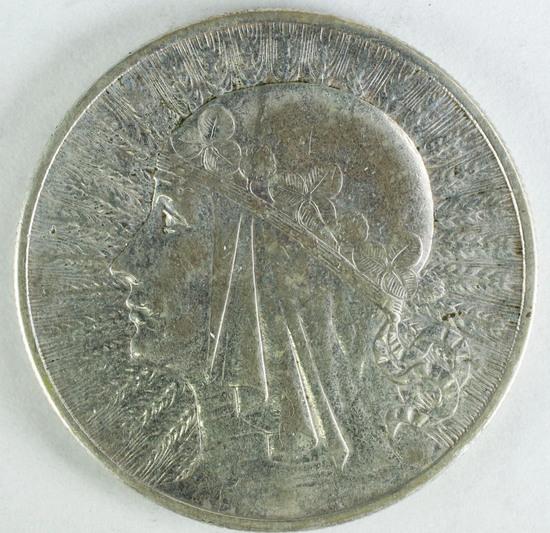 "1932 Poland 10 Zlotych, ""Queen Jadwiga"""