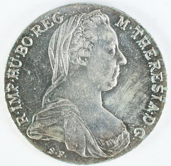 1780 Austria Silver Maria Theresa Thaler Restrike