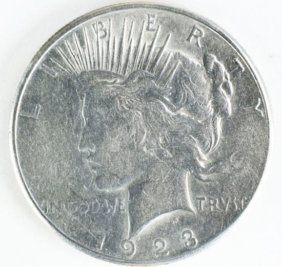 1923-S Peace Siler Dollar