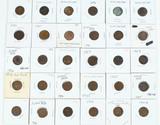 30 Indian Head Pennies, various dates