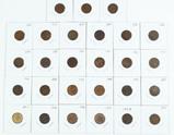 27 Indian Head Pennies, various dates