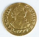 1779-S CF Spain 1/2 Escudo - Carlos III - .875 Gold  Coin