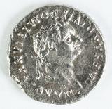 Imperial Rome AR Denarius, Domitian 81-96 AD; Laureate Head/Minerva