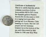 Silver Artifact #85A-5871 From the Spanish Galleon Nuestra Senora De Atocha Ship
