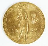 1927 Netherlands Gold Ducat Knight Coin