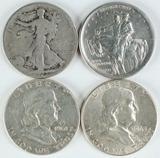 1923-S Walking Liberty Half, 2 Franklins Halves 1961P/1963P +