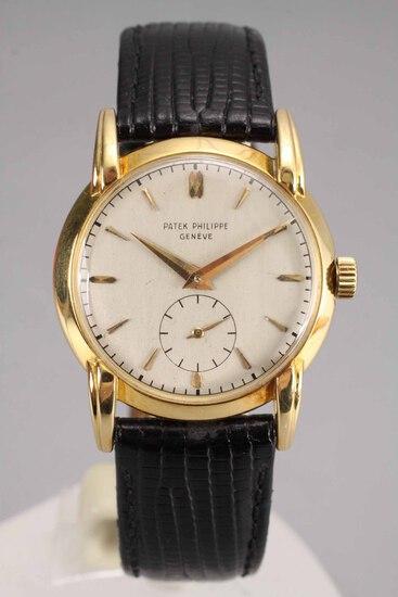 18k Gold Men's Patek Phillipe Wristwatch, Model 2429, Ca. 1950's